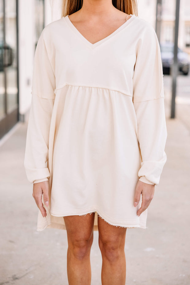Comfy Cotton Dress: Natural