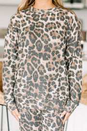 Lovely Leopard Print Long Sleeve Top