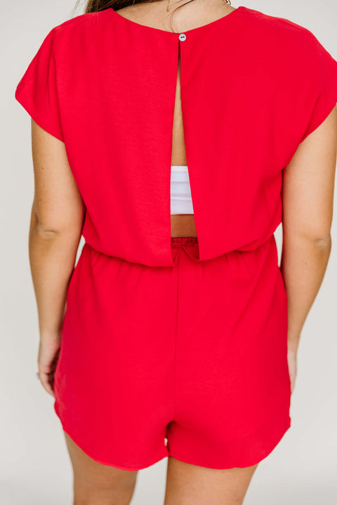 Happy 4th Romper: Red - Shop Amour Boutique Online