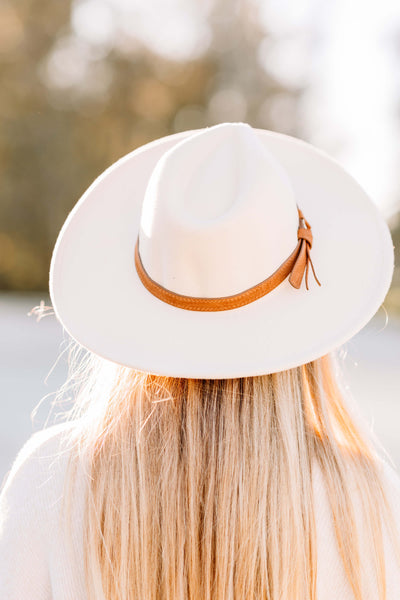 Wide Brim Dandy Panama Hat: Beige