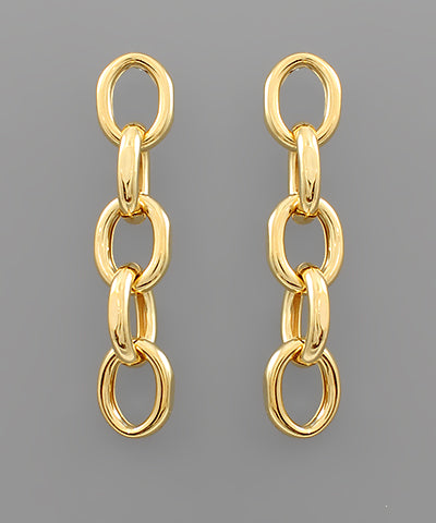 5 Oval Link Earrings