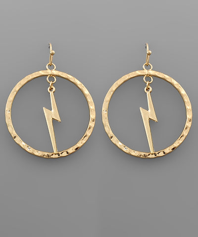 Bolt & Circle Earrings - Shop Amour Boutique Online