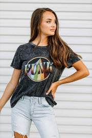 Funk Vintage Wash Graphic Tee - Shop Amour Boutique Online