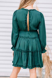 Here for the Holidays Dress: Hunter Green