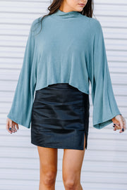 Out of My Way Knit Top: Teal
