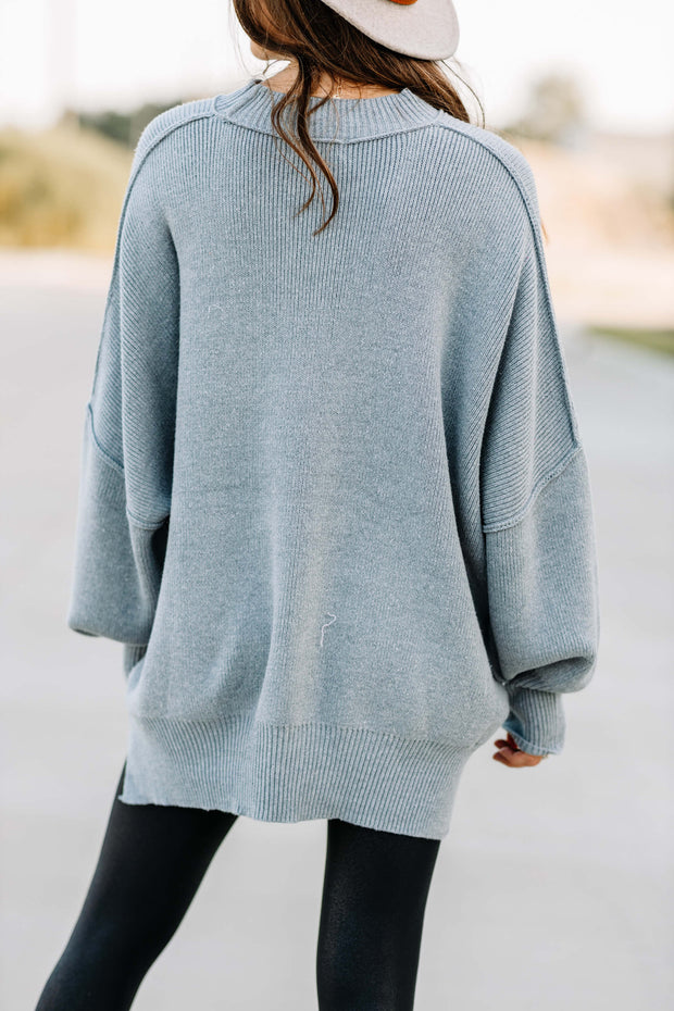 Everywhere You Go Sweater: Heather Grey - Shop Amour Boutique Online