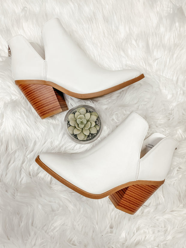Upstream Ankle Bootie: White