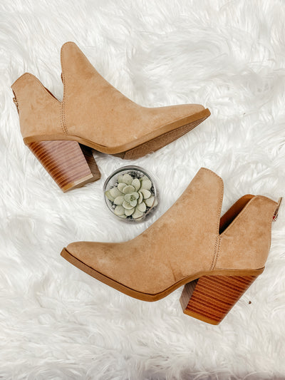 Upstream Ankle Bootie: Camel