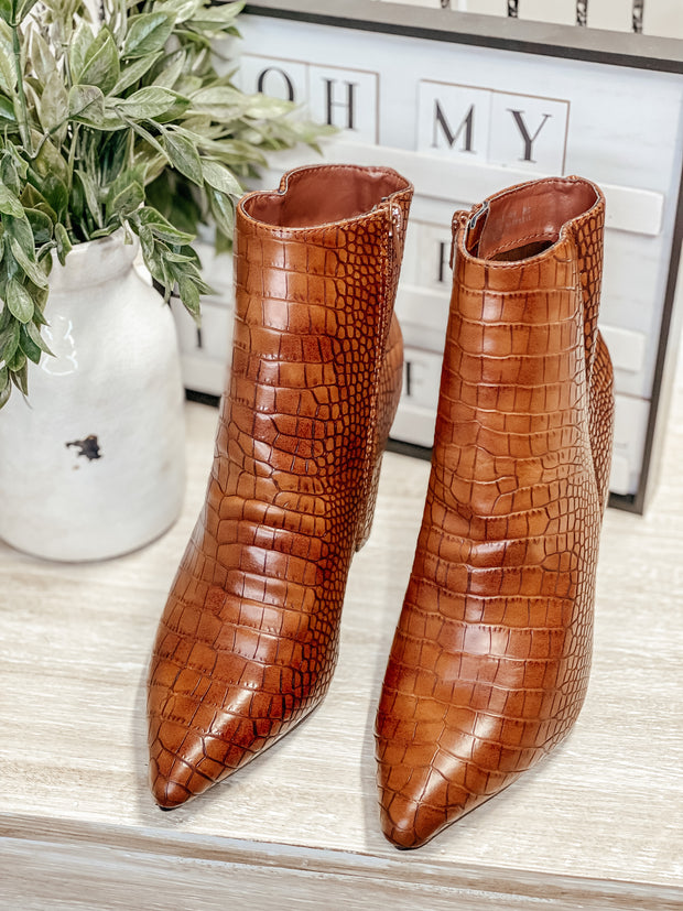 Bellflower Brown Croc Bootie
