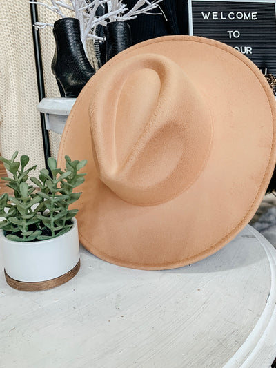 Solid Felt Hat: Tan - Shop Amour Boutique Online