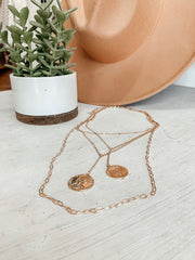 2 Coin Layer Necklace - Shop Amour Boutique Online