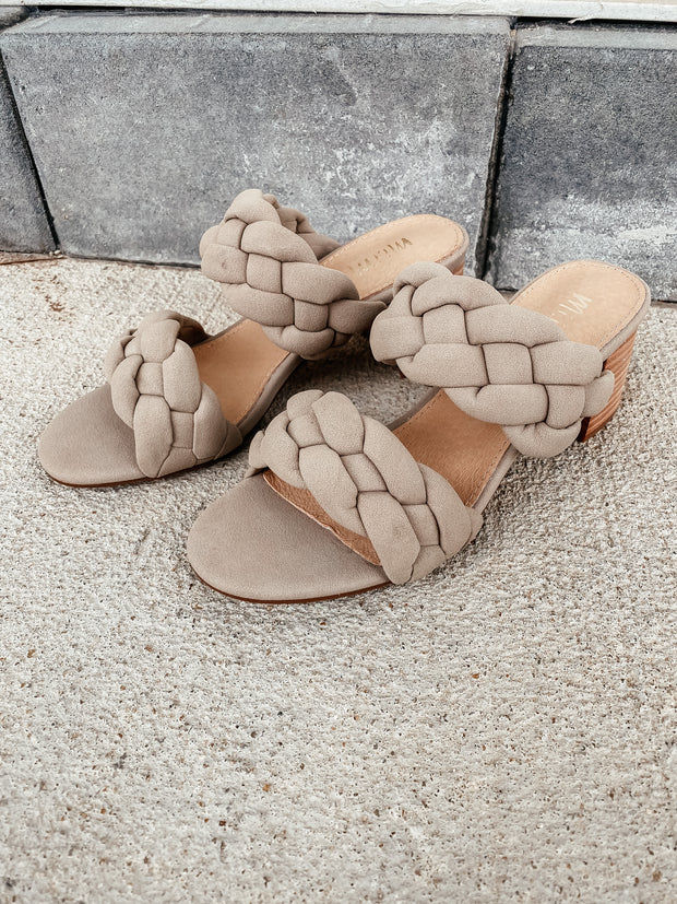 Regine Braided Heel Sandal