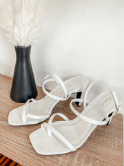 Kaylee White Strappy Heel