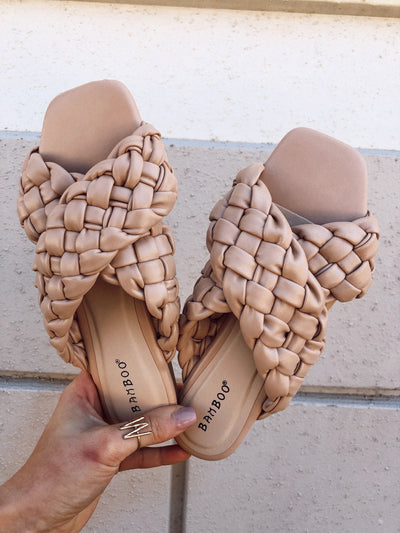 Kick Braided Sandal: Natural
