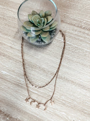 Layered Moon & Star Necklace - Shop Amour Boutique Online