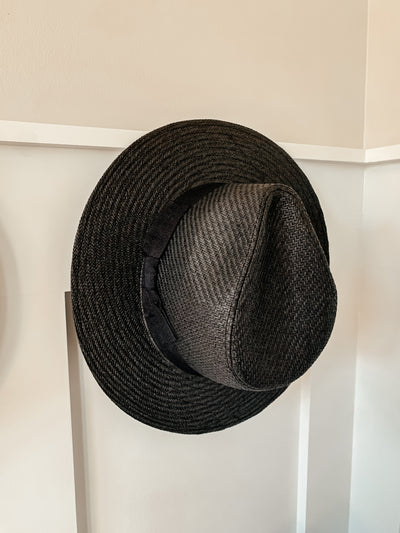 Classic Fedora Straw Hat: Black - Shop Amour Boutique Online