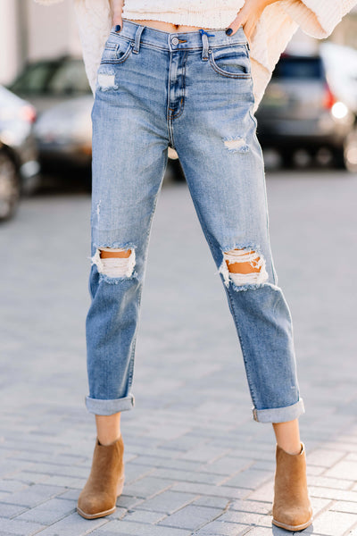 Rocky High Rise Boyfriend: Medium Denim