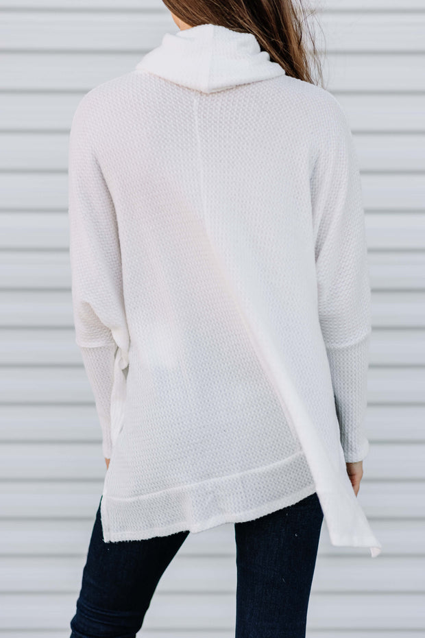 Lets Get Cozy Waffle Top: Off White