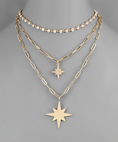 Starburst Layer Necklace - Shop Amour Boutique Online