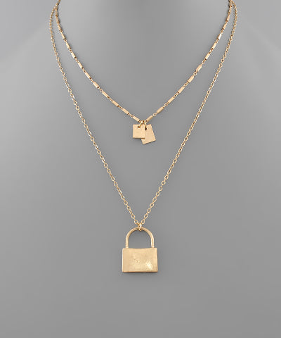 2 Locks Layer Necklace