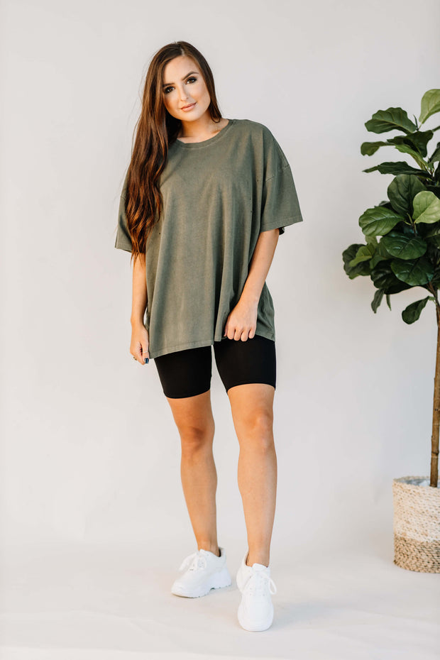 Not Your Boyfriends Tee: Olive - Shop Amour Boutique Online