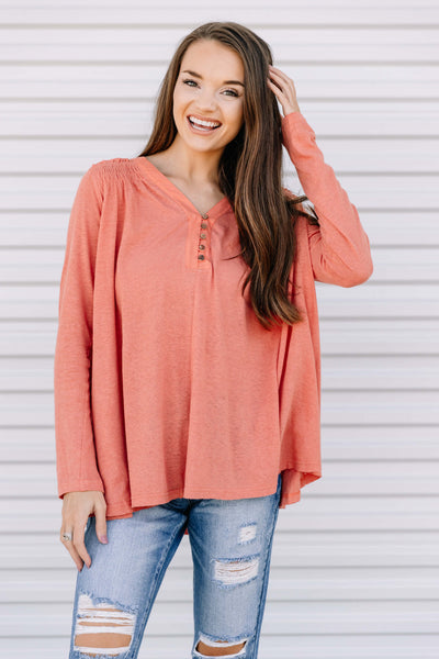 Easy to Love Button Top