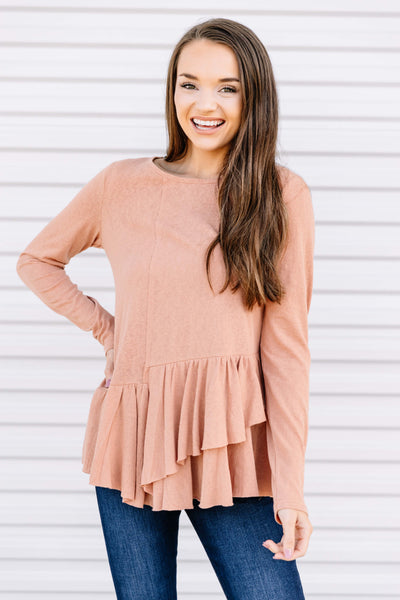 Something About You Ruffle Top