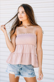 Not Mauve About it Babydoll Top - Shop Amour Boutique Online
