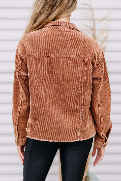 Touch of Cinnamon Cord Jacket