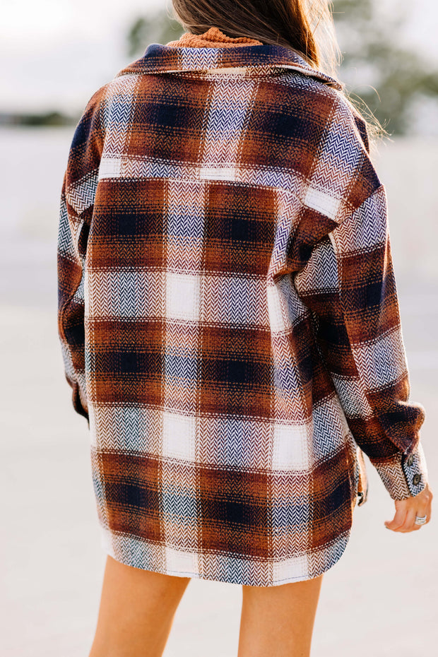 Flannel Plaid Button Down Jacket