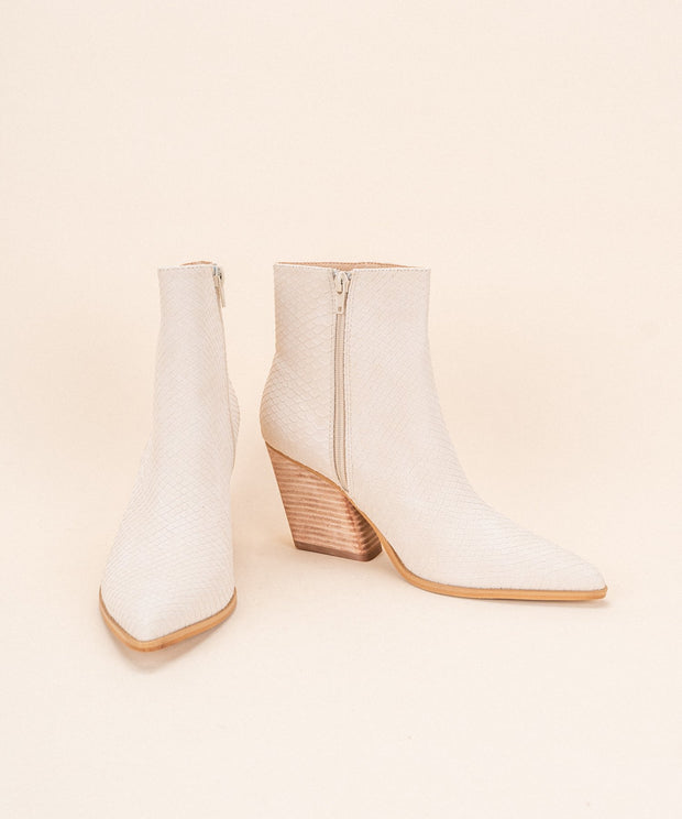Sloan Off White Bootie