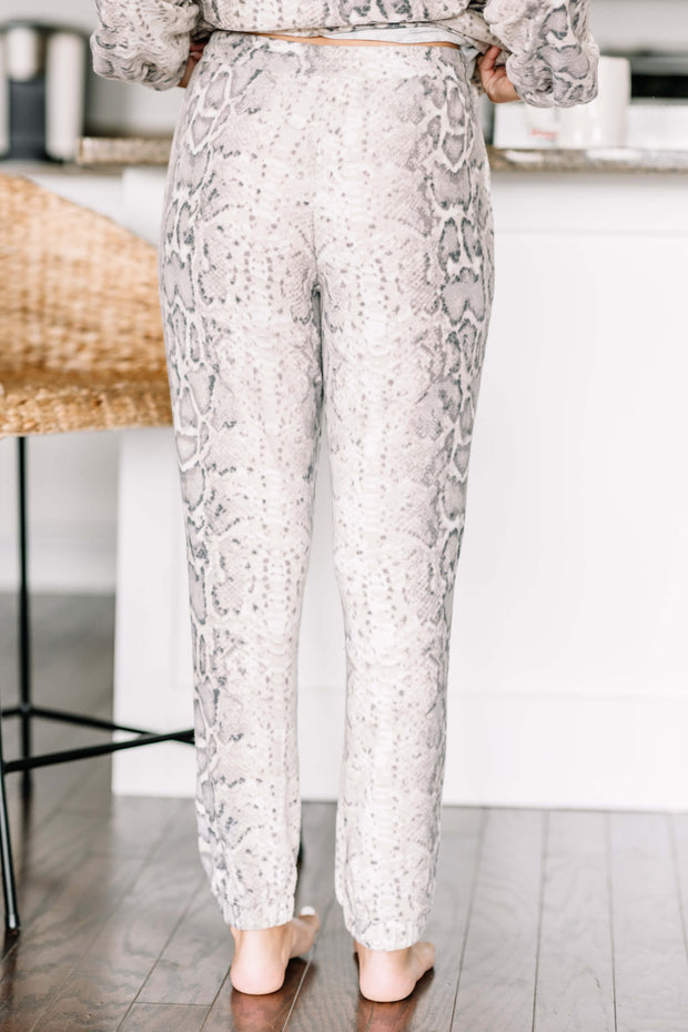 Cozy Nights Snake Print Joggers