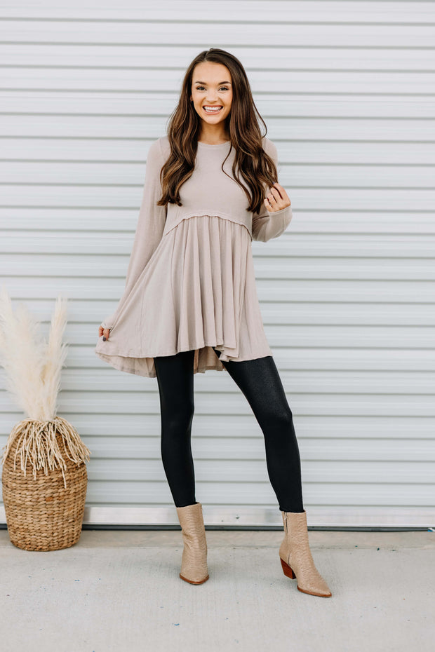 Easy to Love Taupe Tunic