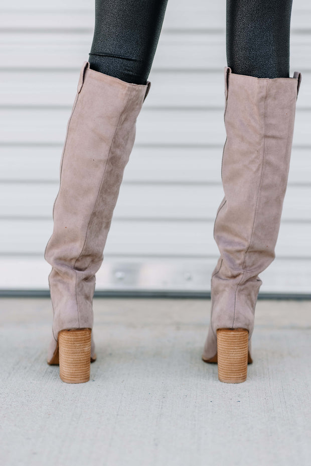 Saint Knee Boot: Taupe