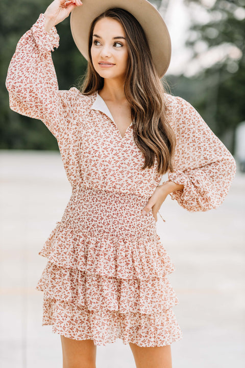 Falling for Florals Smocked Dress: Ivory - Shop Amour Boutique Online