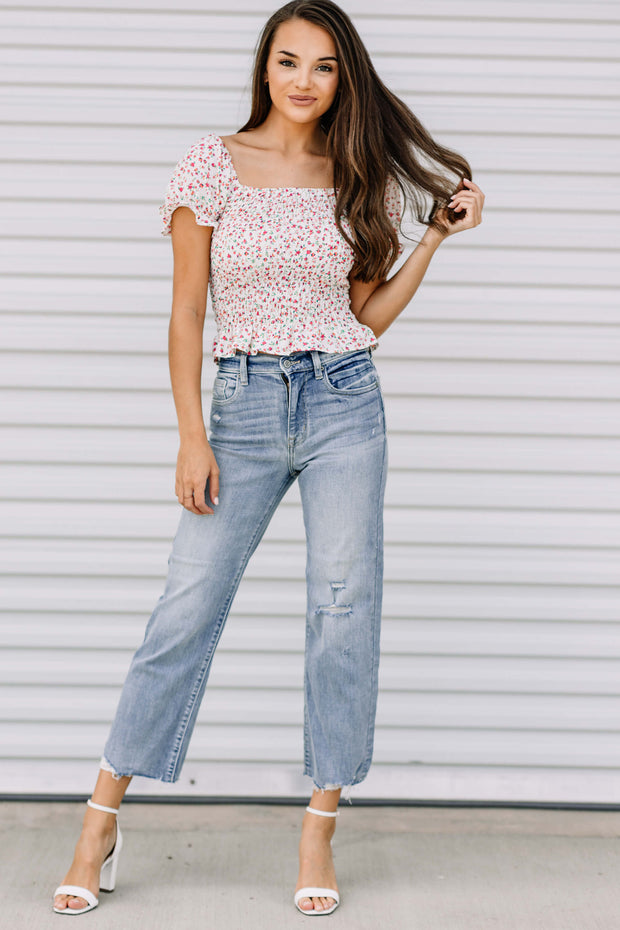 Dawn High Rise Wide Leg Crop Jean - Shop Amour Boutique Online
