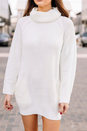 The Perfect Sweater Dress: Off White