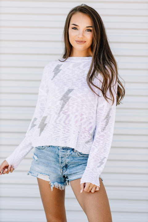 Flash of Lightning Knit Sweater - Shop Amour Boutique Online