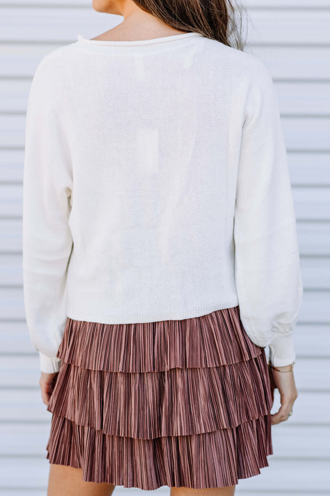 Pearl Knit Sweater Top