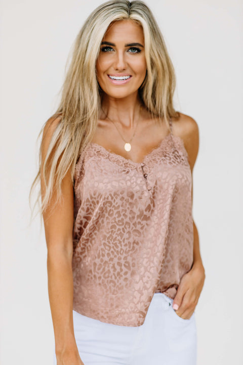 Leopard and Lace Cami: Ginger - Shop Amour Boutique Online