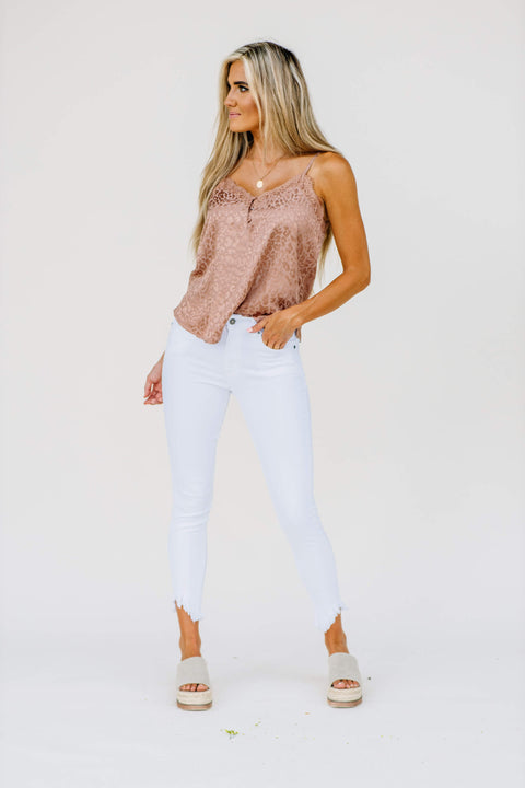 Kancan High Rise Super Skinny Jean: white - Shop Amour Boutique Online