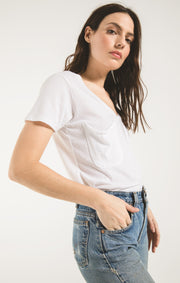 Z Supply Pocket Tee: White - Shop Amour Boutique Online