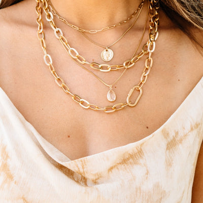 Chunky Chain Layer Necklace - Shop Amour Boutique Online