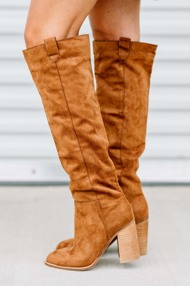 Saint Knee High Boot: Caramel