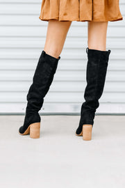 Saint Knee High Boot: Black