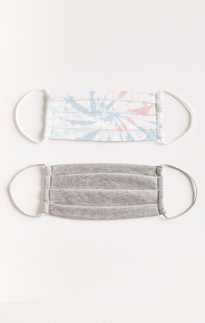 Z Supply Tie Dye Reusable Face Mask (2-pack) - Shop Amour Boutique Online