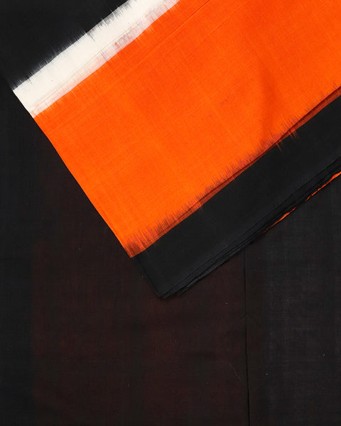 Fire orange shade narayanpet cotton saree