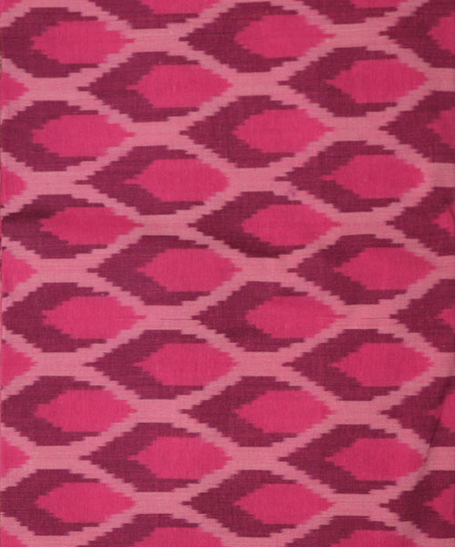 Cerise pink color handwoven mercerized cotton bedsheet