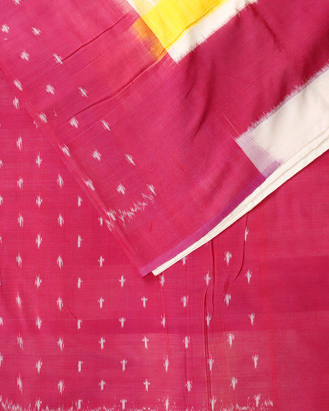 Multi-color shade pochampally cotton saree