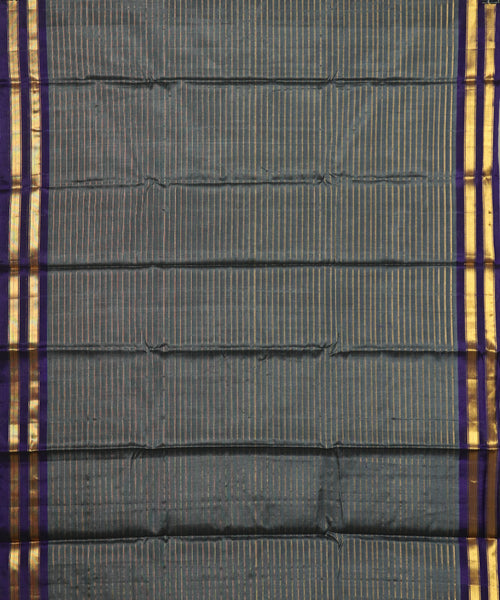 Shadow gray Handloom Gadwal SICO saree